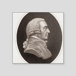 "Adam Smith, philosopher and Square Sticker 3"" x 3"""