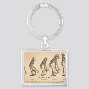 1863 Huxley from Ape to Man, ag Landscape Keychain