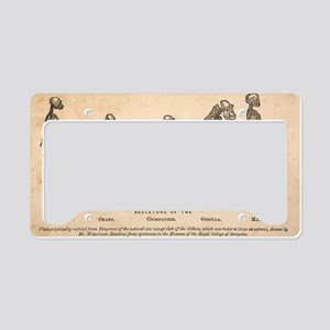 1863 Huxley from Ape to Man,  License Plate Holder