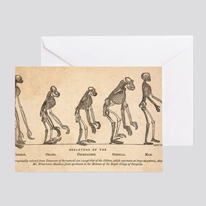 1863 Huxley from Ape to Man, age-ton Greeting Card