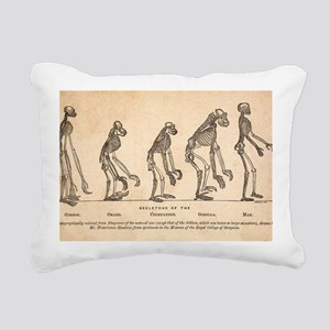 1863 Huxley from Ape to  Rectangular Canvas Pillow