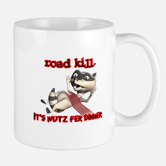 Racoon Road Kill for Dinner Mug