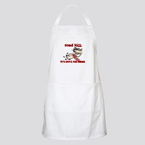 Racoon Road Kill for Dinner BBQ Apron