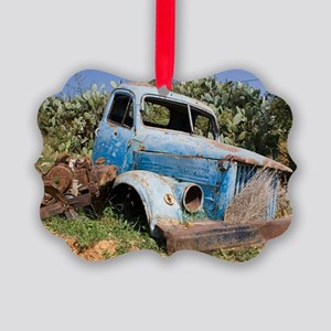 Abandoned truck outside Gazipasa  Picture Ornament