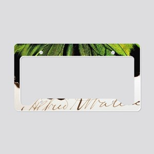 1855 Wallace and Rajah Brooke License Plate Holder