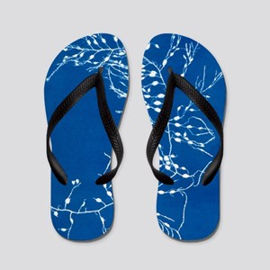 19th-century alga cyanotype Flip Flops