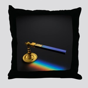 19th Century Flint Glass Prism Throw Pillow