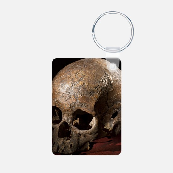 19th C. Carved dayak skull Keychains