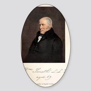 1838 William Smith father of UK Geo Sticker (Oval)
