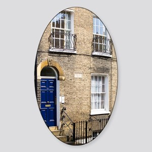 1836 Charles Darwin's House Cambrid Sticker (Oval)