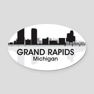 GrandRapids Oval Car Magnet