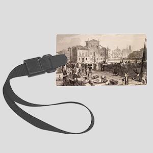 1832 Brazil slaves, Darwin on th Large Luggage Tag