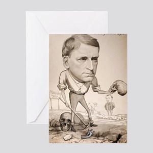 1880 George Rolleston zoologist cart Greeting Card