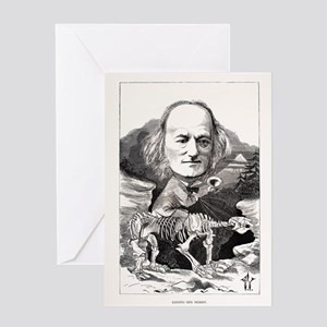 1871 Richard Owen on megatherium fos Greeting Card