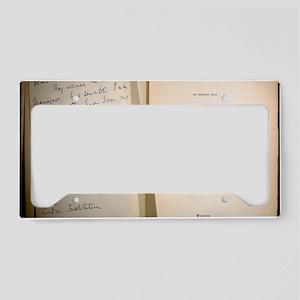 1869 Galton signature 'Heredi License Plate Holder