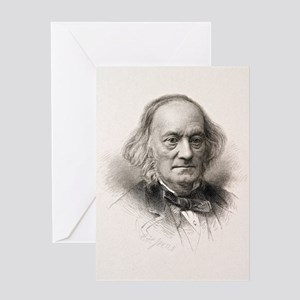 1880 Sir Richard Owen engraved portr Greeting Card