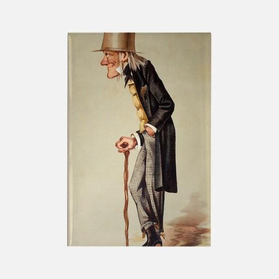 1873 Richard Owen 'Old bones' Van Rectangle Magnet