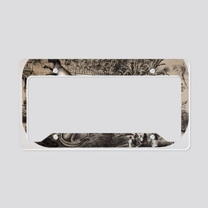 1869 Central Park Dinosaurs H License Plate Holder