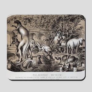 1869 Central Park Dinosaurs Hawkins full Mousepad