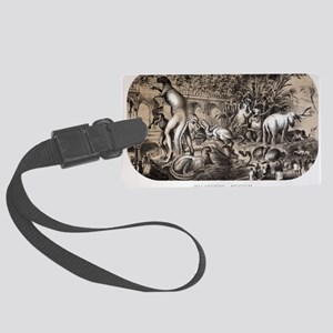 1869 Central Park Dinosaurs Hawk Large Luggage Tag