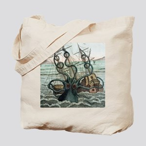 1815 Collosal Polypus octopus and ship Tote Bag