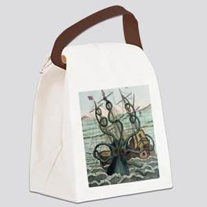 1815 Collosal Polypus octopus and Canvas Lunch Bag