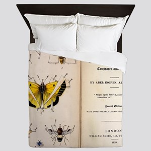 1827, 1839, Collecting British Insects Queen Duvet