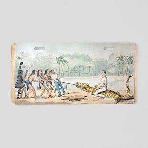 1826 Naturalist Charles Wat Aluminum License Plate