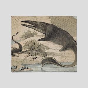 1862 Hawkin's Icthyosaur Throw Blanket