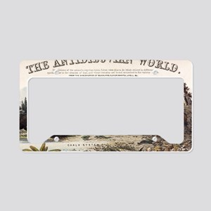 1849 The antidiluvian world c License Plate Holder