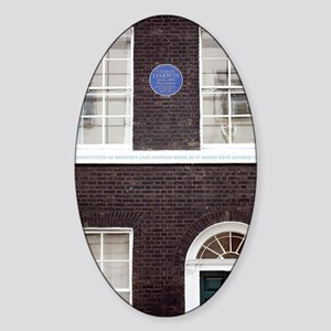 1839 Darwin's London Home reconstru Sticker (Oval)