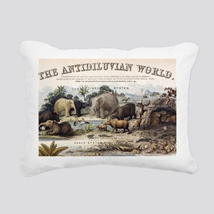 1849 The antidiluvian wo Rectangular Canvas Pillow