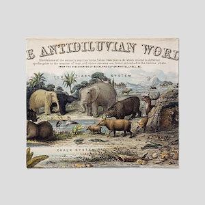 1849 The antidiluvian world crop Jur Throw Blanket