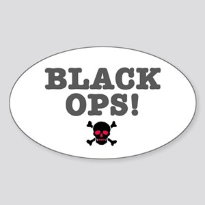 BLACK OPS Sticker (Oval)