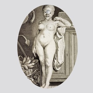 1777 Buffon Albino African American Oval Ornament