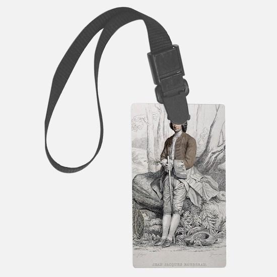 1764 Jean Jacques Rousseau Portr Luggage Tag