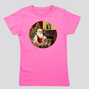 R-Santa-AussieTerrier1 Girl's Tee