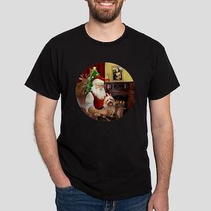 R-Santa-AussieTerrier1 Dark T-Shirt