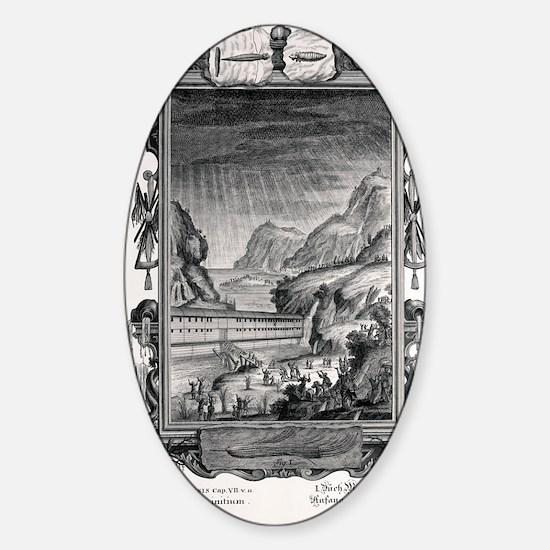 1731 Johann Scheuchzer Noah's Ark F Sticker (Oval)
