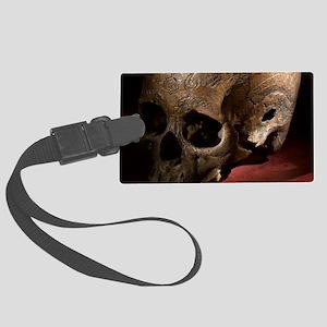 1800's Carved dayak skull lethal Large Luggage Tag