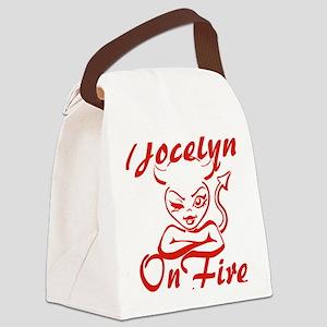 Jocelyn On Fire Canvas Lunch Bag