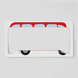 London Double-Decker Bus License Plate Holder