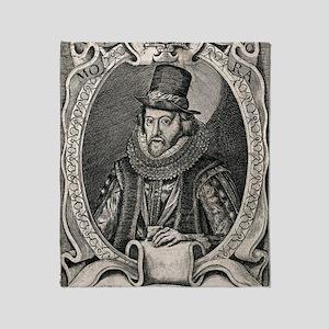 1626 Francis Bacon Portrait Philosop Throw Blanket