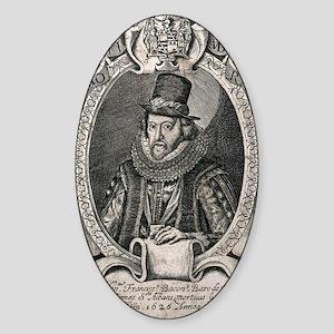 1626 Francis Bacon Portrait Philoso Sticker (Oval)