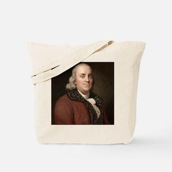 1778 Benjamin Franklin scientist Tote Bag