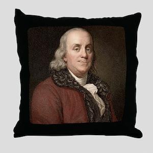 1778 Benjamin Franklin scientist Throw Pillow