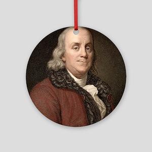 1778 Benjamin Franklin scientist Round Ornament