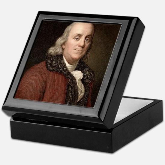 1778 Benjamin Franklin scientist Keepsake Box