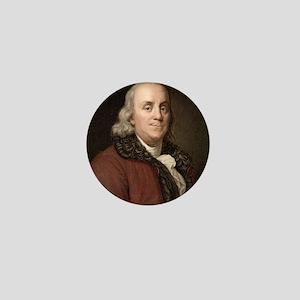1778 Benjamin Franklin scientist Mini Button