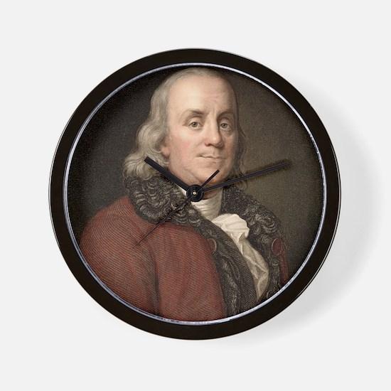 1778 Benjamin Franklin scientist Wall Clock